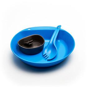 Wildo Pathfinder Kit Dinner Set, light blue/dark grey